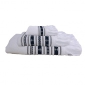 Набор из 3 полотенец Marine Business Santorini Anchors White 33x50/50х100/70x140 см