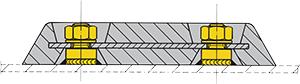 Комплект креплений анодов Vetus (за 1 шт.)