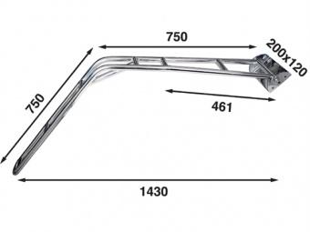 Кормовой подъёмник для моторной лодки из нержавеющей стали