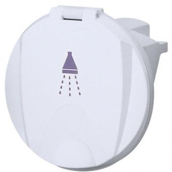 Палубный душ в круглом кожухе с крышкой