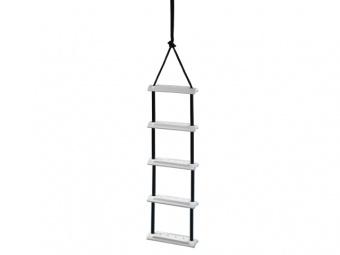 Верёвочная лестница с лексановыми ступенями